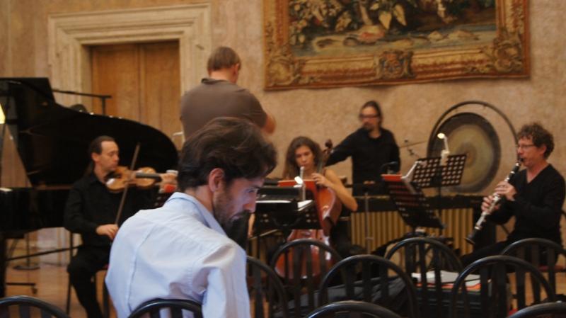 Avec le compositeur Sebastian Rivas